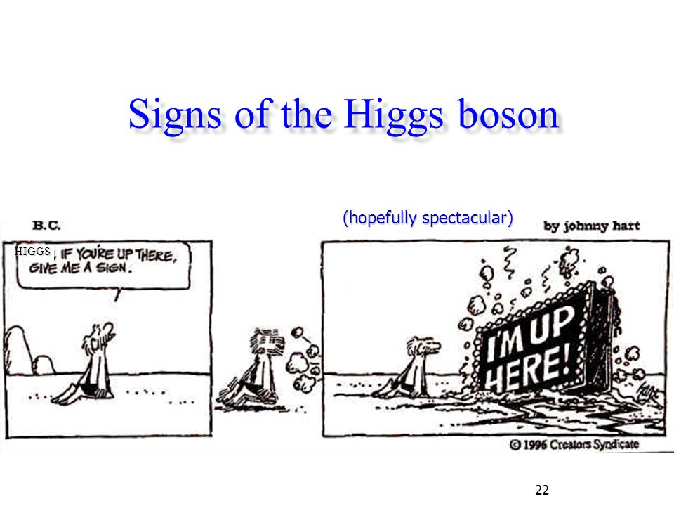 22 Signs of the Higgs boson HIGGS (hopefully spectacular)