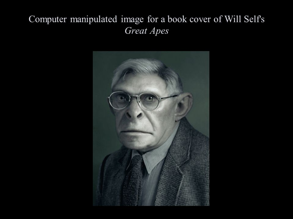 Computer manipulated image for a book cover of Will Self s Great Apes