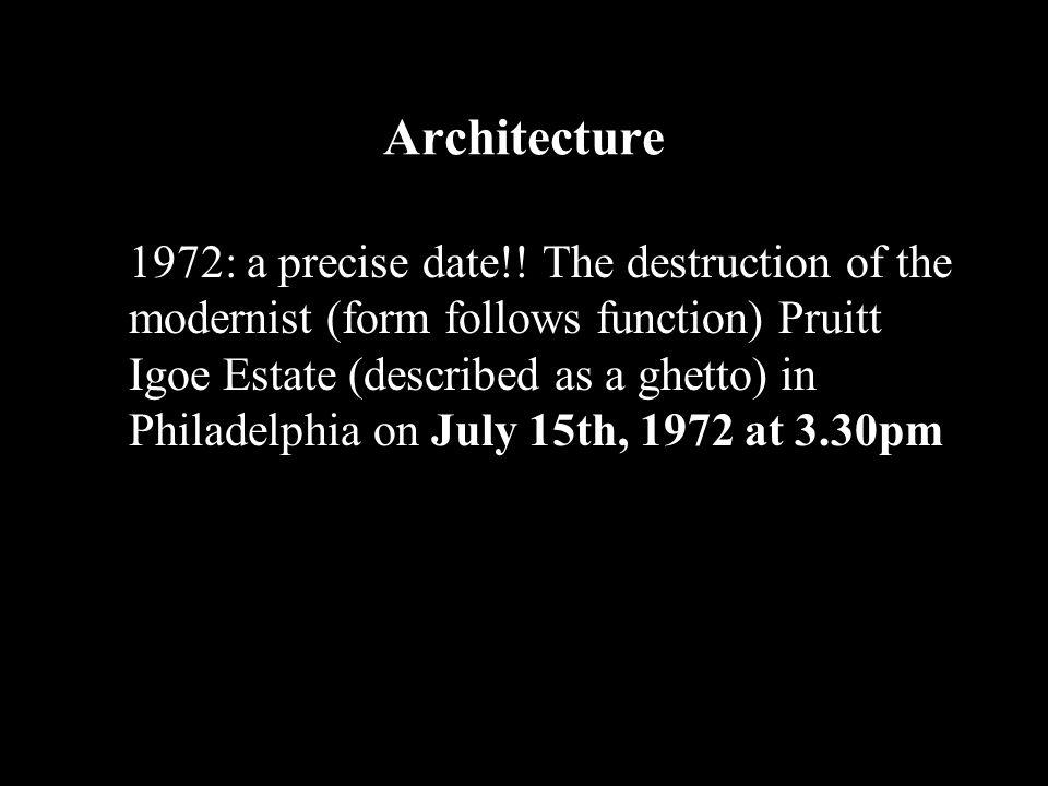 Architecture 1972: a precise date!.