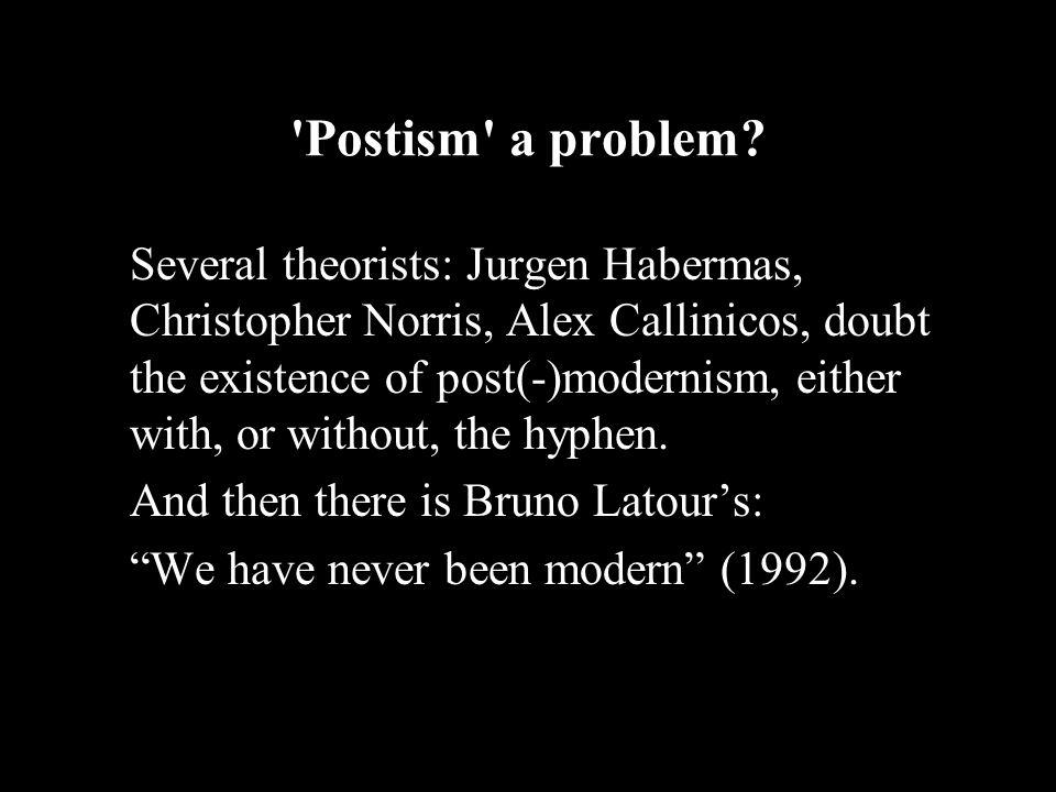Postism a problem.
