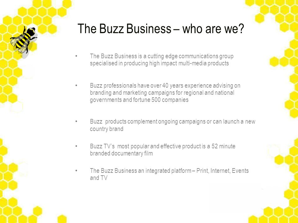 The Buzz Business – who are we.