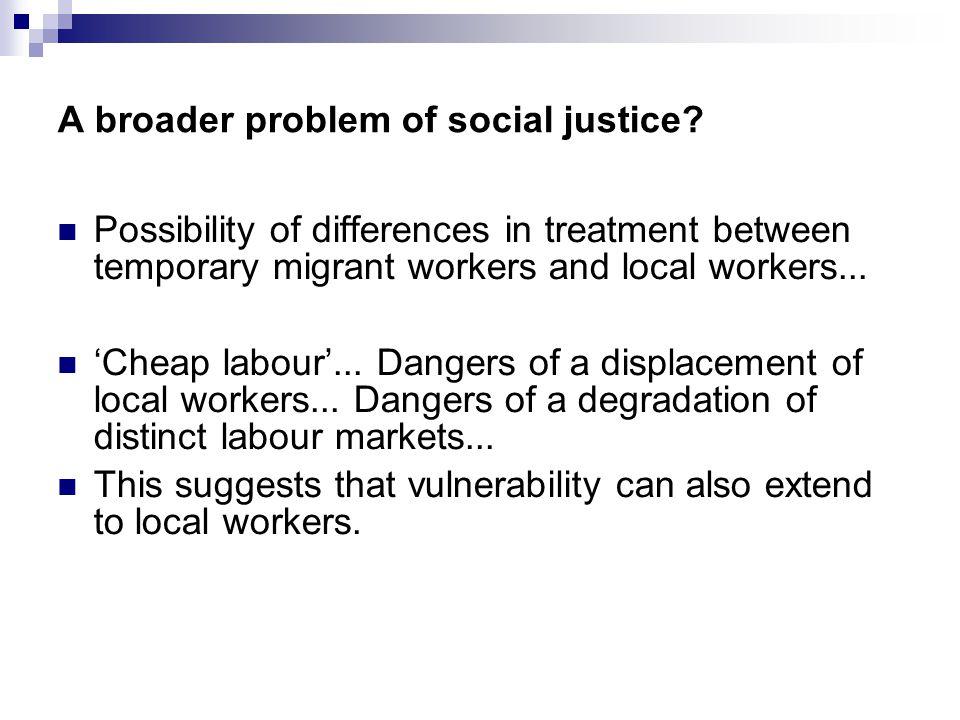 A broader problem of social justice.