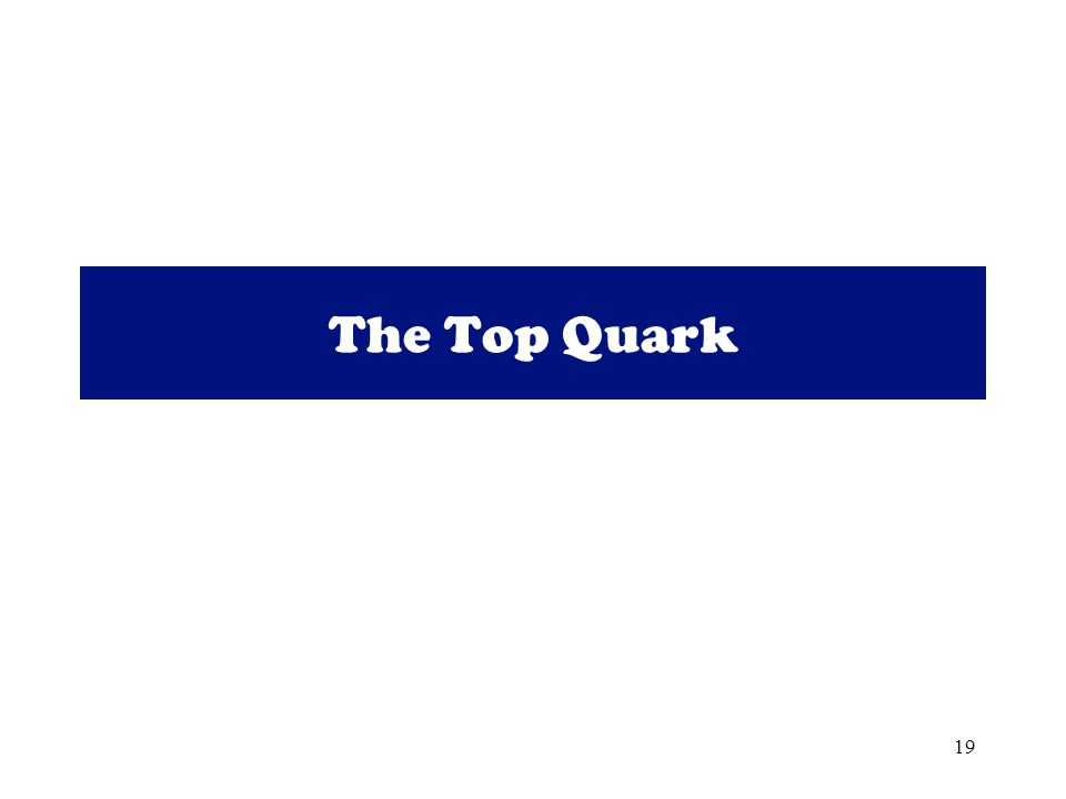 19 The Top Quark