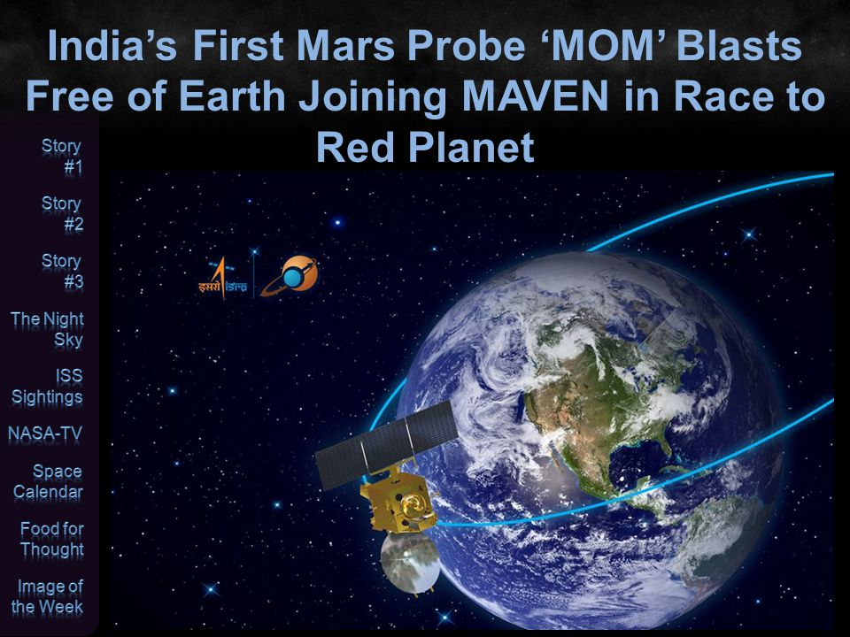 India's First Mars Probe 'MOM' Blasts Free of Earth Joining MAVEN in Race to Red Planet