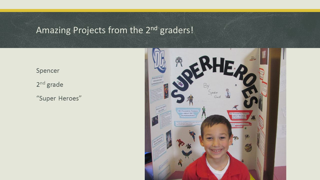 Amazing Projects from the 2 nd graders! Spencer 2 nd grade Super Heroes