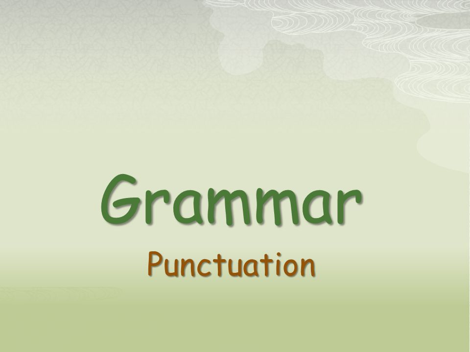 GrammarPunctuation