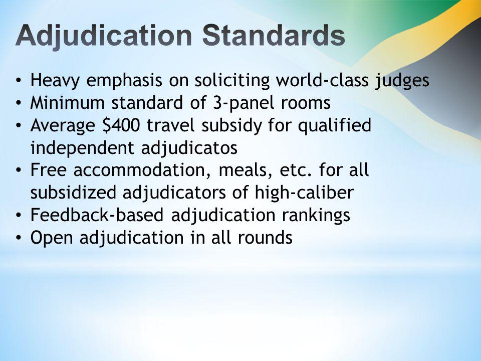 9 Robust Experience S AGICOR -UT ECH N ATIONAL D EBATING C HAMPIONSHIP (Jamaica's premier tertiary debating tournament) Execution of training programmes.