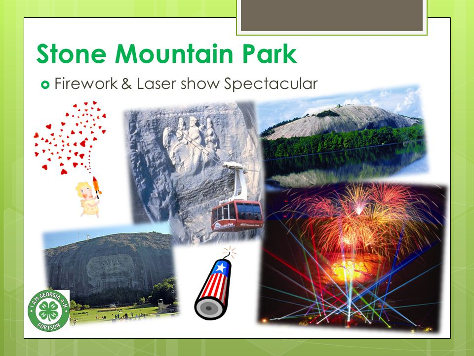 Stone Mountain Park  Firework & Laser show Spectacular