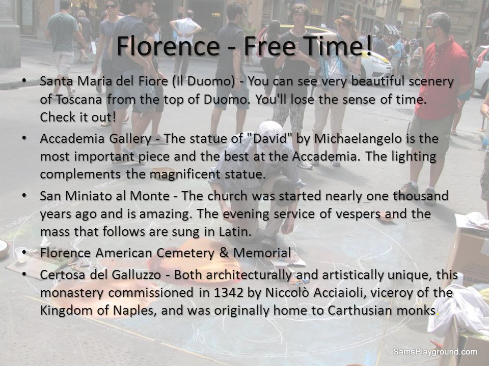 Florence - Free Time.