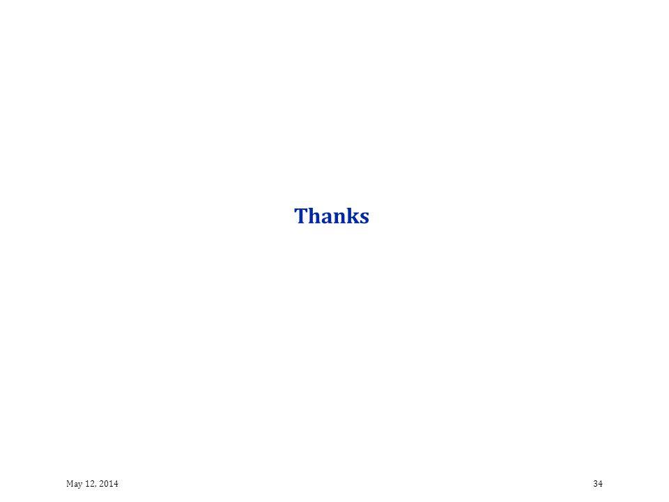 Thanks 34May 12, 2014