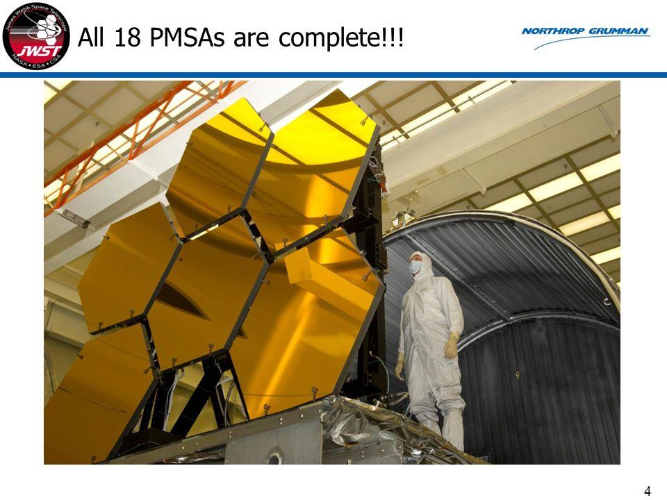 All 18 PMSAs are complete!!! 4