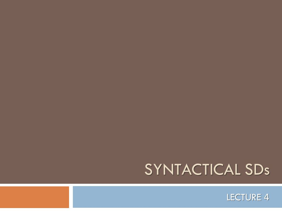 Syntactical Stylistic Devices  are based on some significant structural points;  are less spectacular than LSDs;  yet are deeper and more effective.