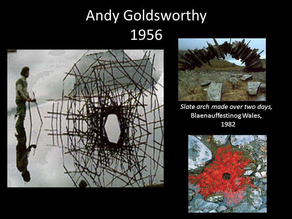 Andy Goldsworthy 1956 Slate arch made over two days, Blaenauffestinog Wales, 1982