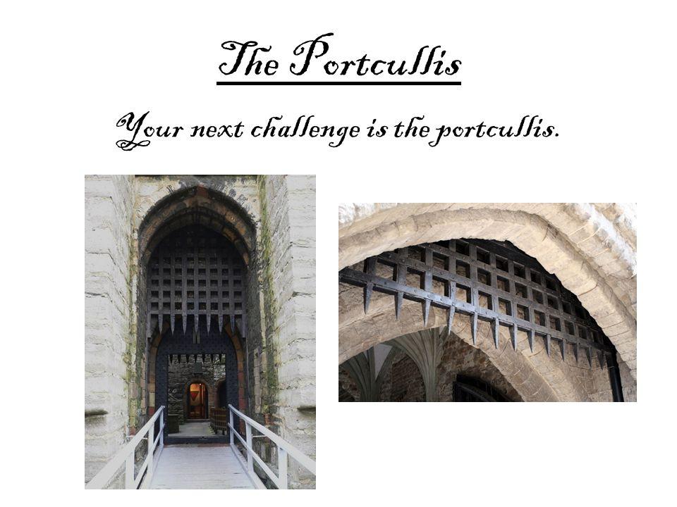 The Portcullis Your next challenge is the portcullis.