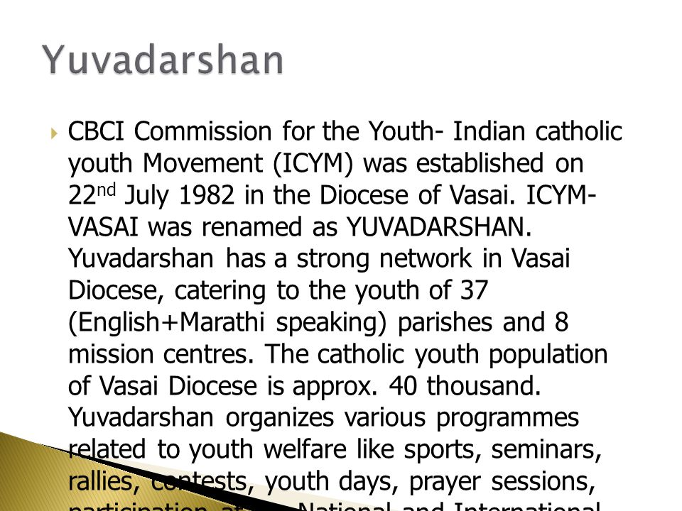  VISION: Development of Youth to be the Future of Our Society.