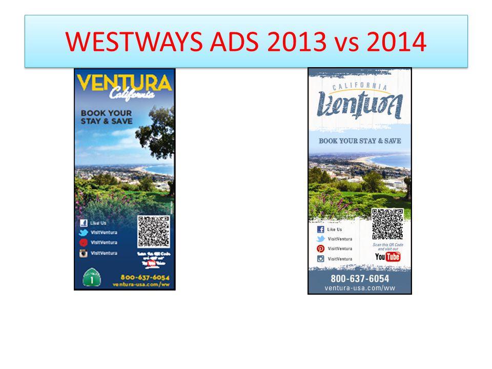 WESTWAYS ADS 2013 vs 2014