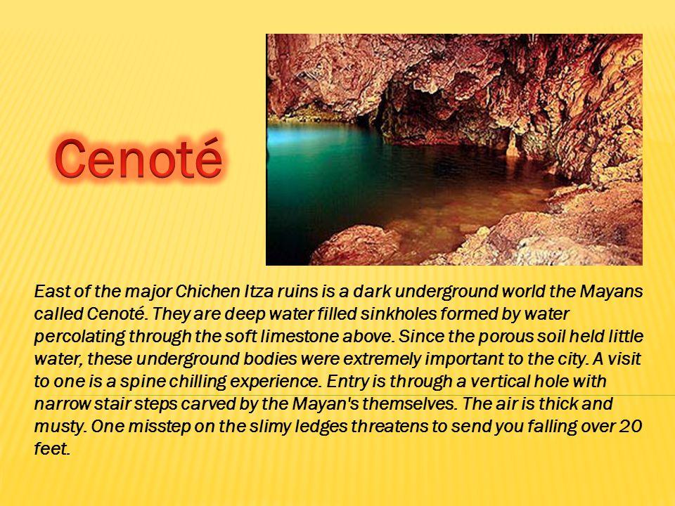East of the major Chichen Itza ruins is a dark underground world the Mayans called Cenoté.
