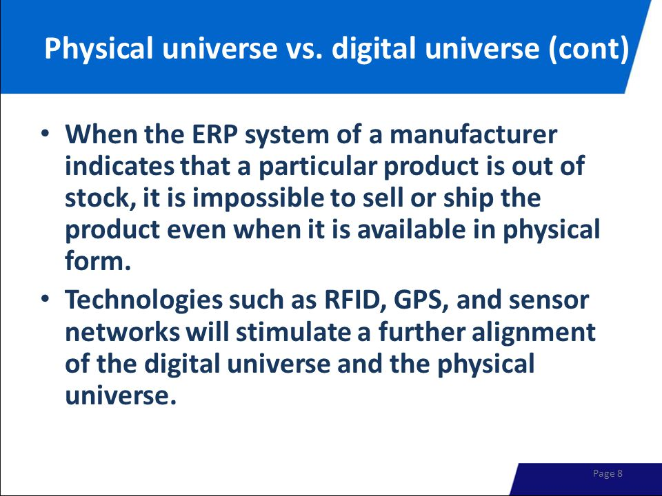 Physical universe vs.