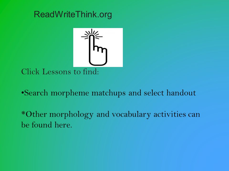 Branch examples and important information about word off of the center circle.