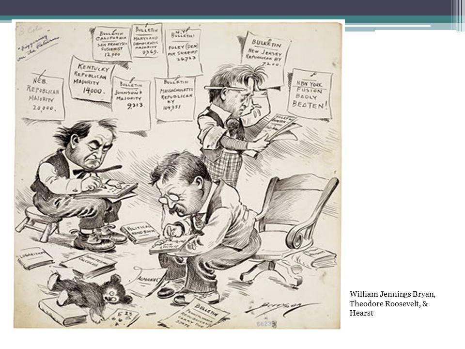 William Jennings Bryan, Theodore Roosevelt, & Hearst