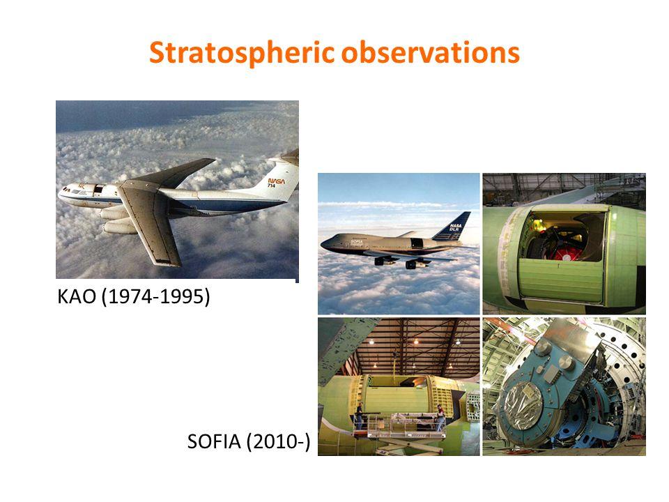 Stratospheric observations KAO (1974-1995) SOFIA (2010-)