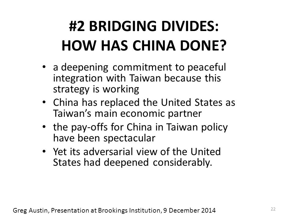 #2 BRIDGING DIVIDES: HOW HAS CHINA DONE.