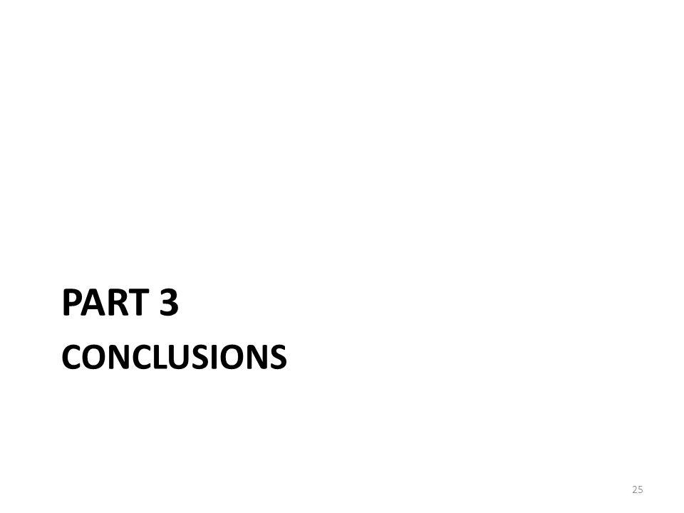 CONCLUSIONS PART 3 25