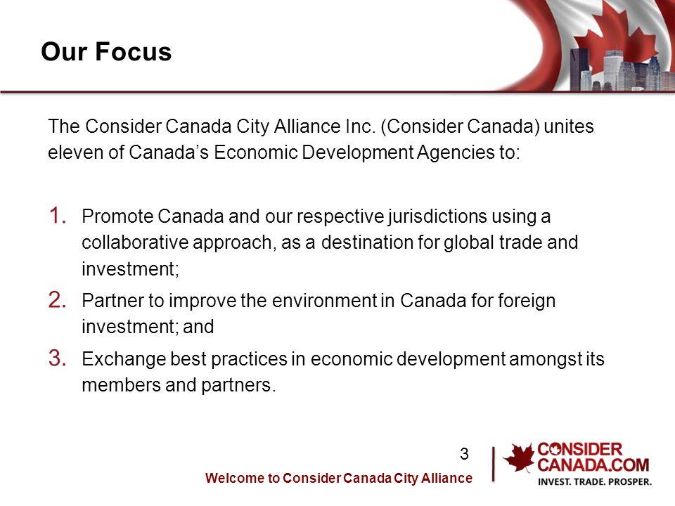 Our Focus The Consider Canada City Alliance Inc.