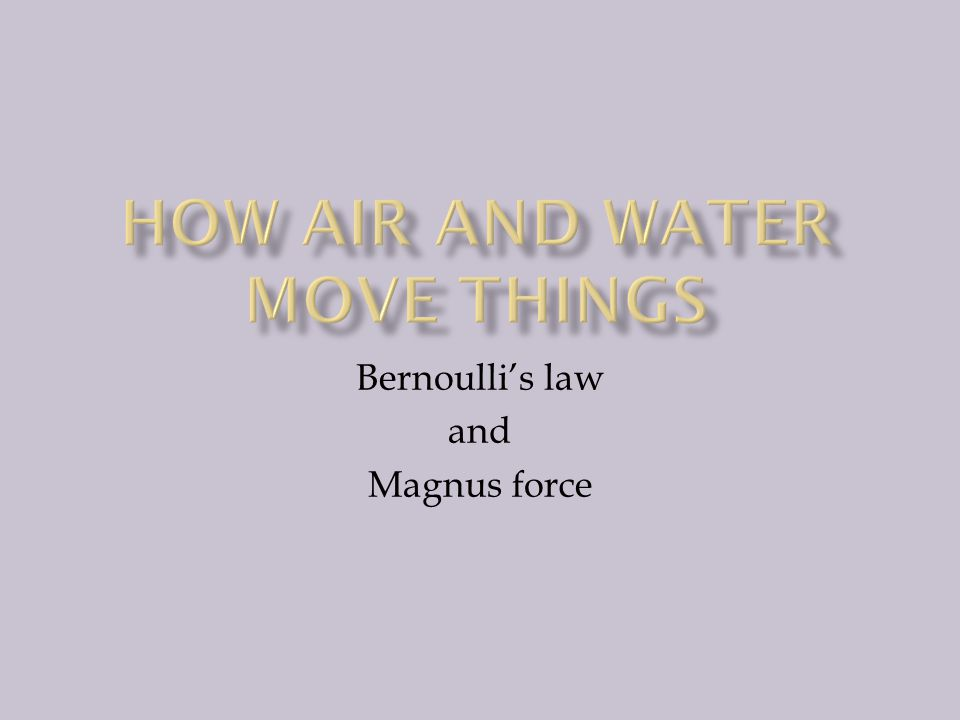 Bernoulli's law and Magnus force