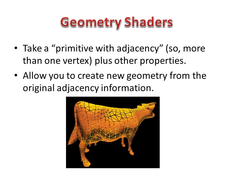 Take a primitive with adjacency (so, more than one vertex) plus other properties.