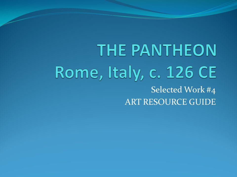 Selected Work #4 ART RESOURCE GUIDE