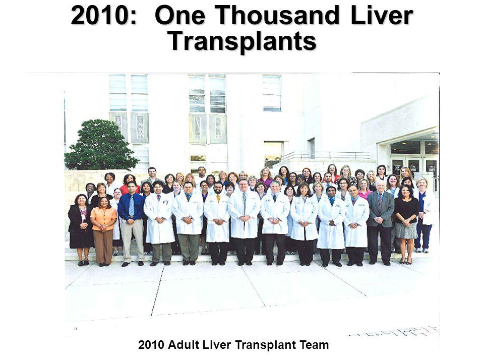 2010: One Thousand Liver Transplants 2010 Adult Liver Transplant Team