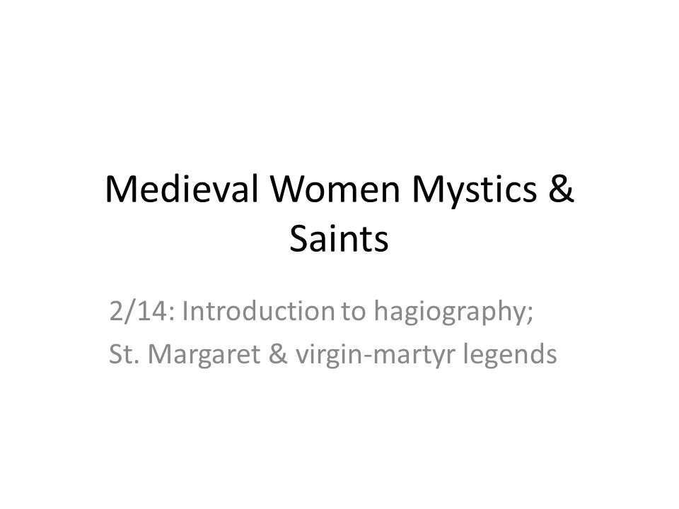Saints' lives tradition Hagiography: Hagios holy + graph writing = writing of saints' lives The life of Christ provides the model for the saint who follow his path.
