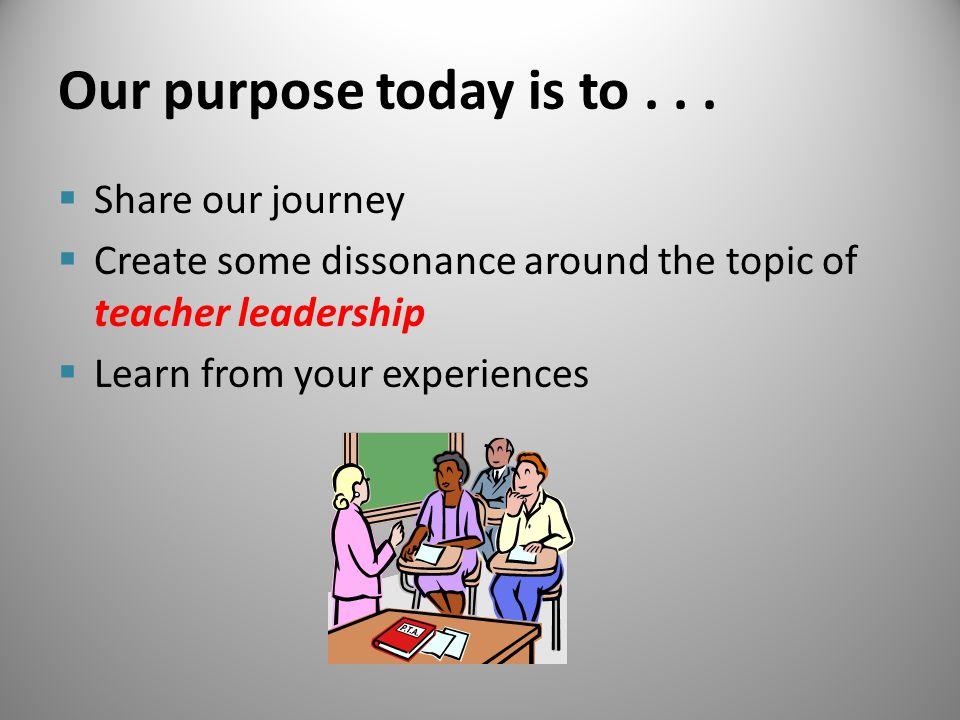 First Steps… Leadership Team Changes Data Decision Making Matrix
