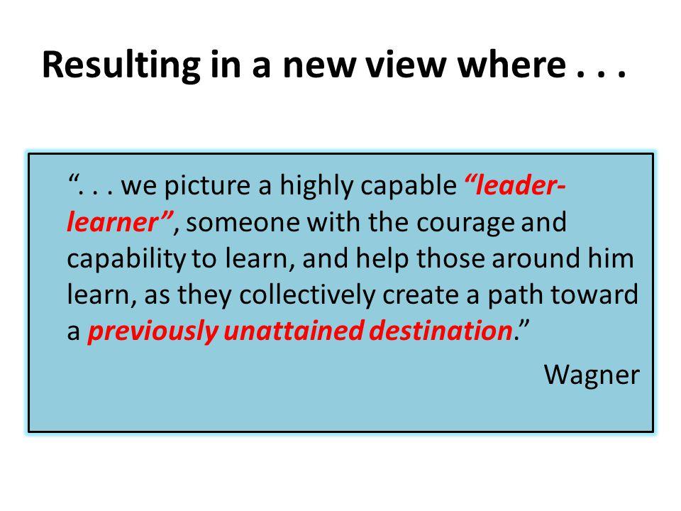 We need new leadership to...