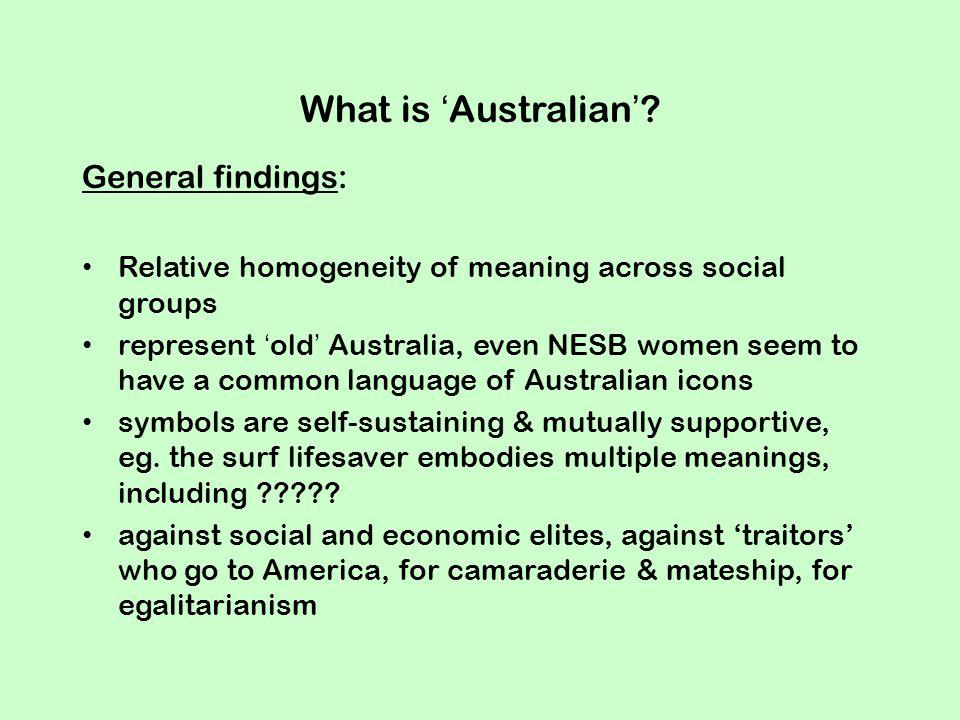 What is 'Australian'.