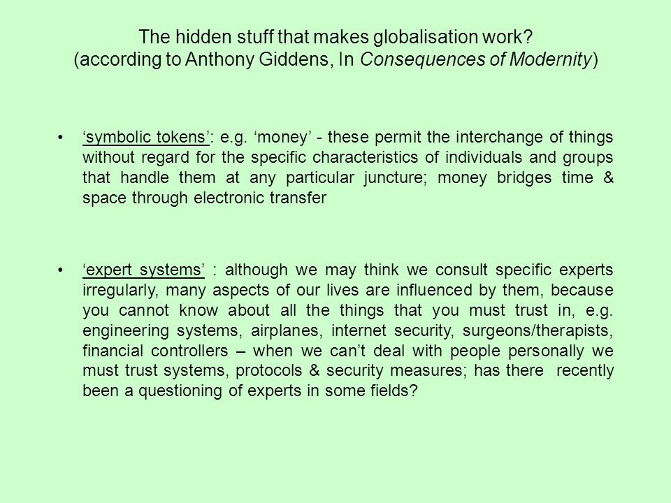 The hidden stuff that makes globalisation work.