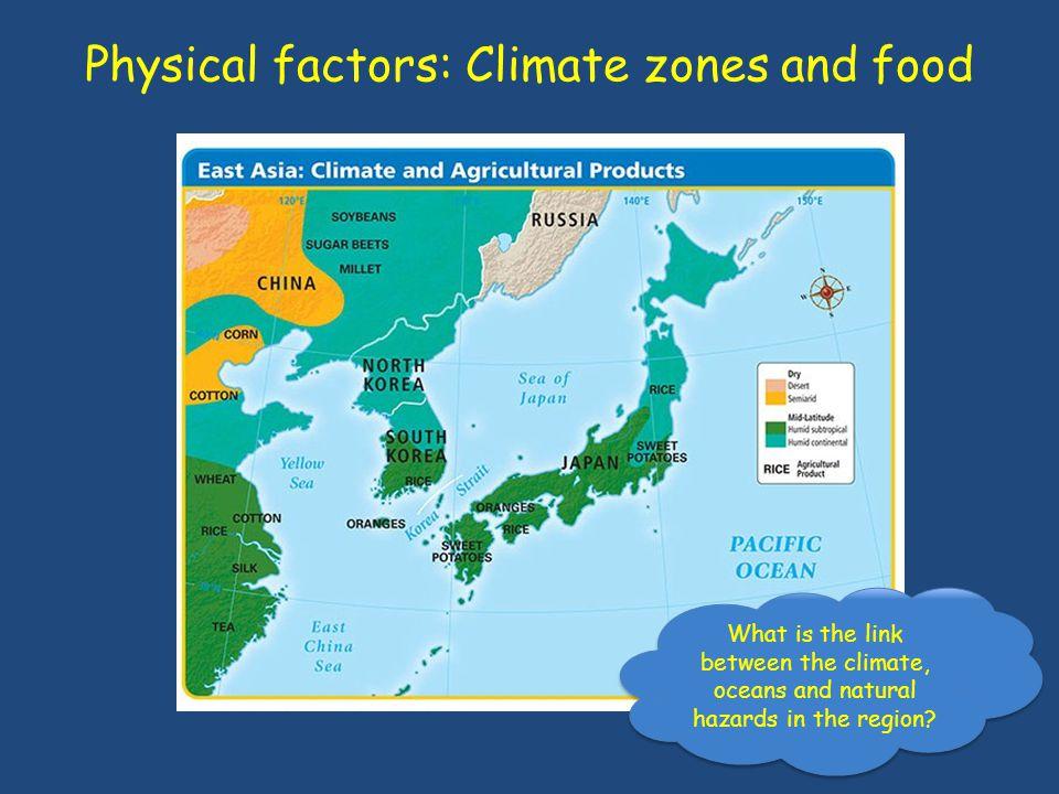 Physical factors: Energy resources http://www.guardian.co.uk/news/datablog/interactive/2012/jun/14/bp-world-energy-statistics-production-consumption-reserves
