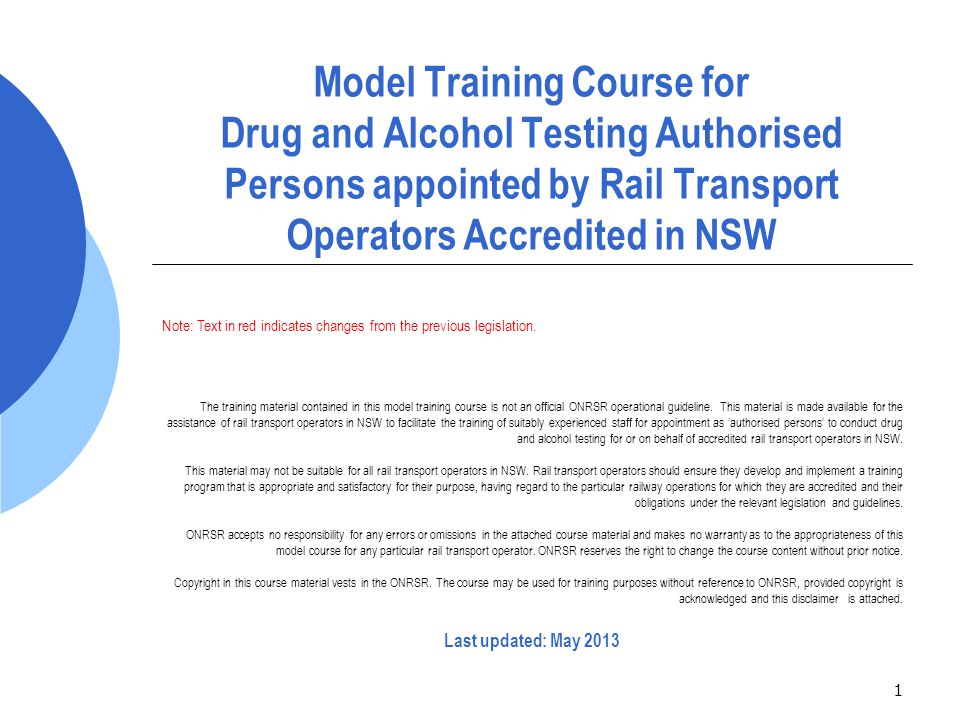 42 Drug & alcohol testing equipment & services  Breath testing devices must:  comply with the AS 3547-1997, Breath alcohol testing devices for personal use , or be of a type approved by the Governor by order published in the Gazette for the purposes of the Road Transport (Safety and Traffic Management) Act 1999 ;  be fully maintained and calibrated at regular and agreed intervals  Urine samples must be collected, transported, tested (if tested by a laboratory) and stored in accordance with the requirements of AS/NZS 4308:2008, Procedures for specimen collection and the detection and quantitation of drugs of abuse in urine .