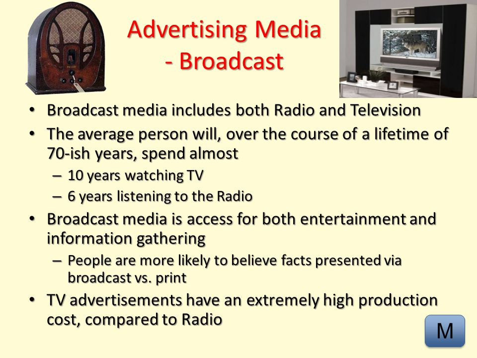 Advertising – Print - Video M M