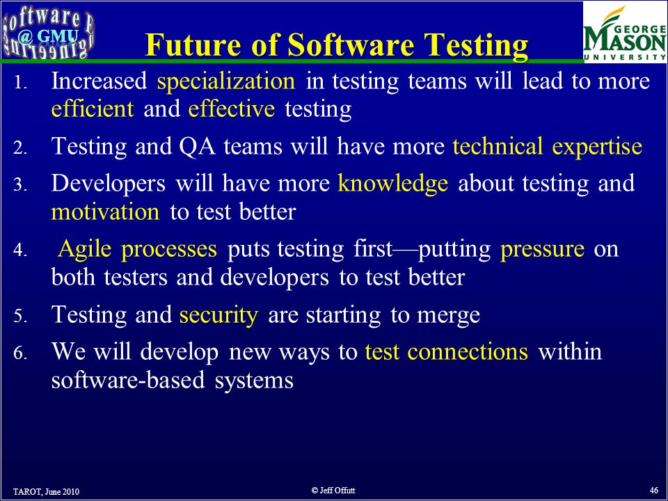 Future of Software Testing 1.
