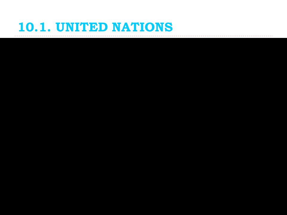 10.1. UNITED NATIONS