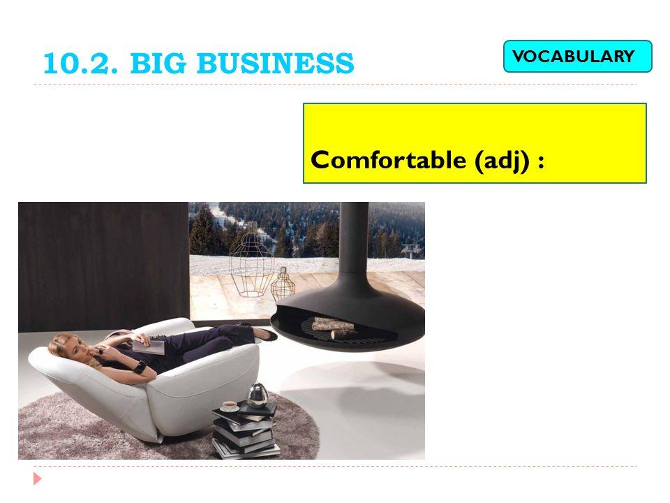 10.2. BIG BUSINESS Comfortable (adj) : VOCABULARY