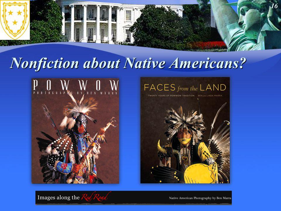 16 Nonfiction about Native Americans