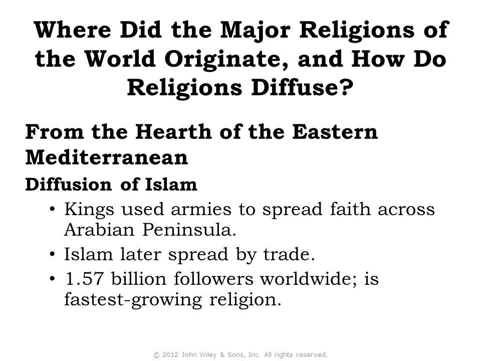 Diffusion of Islam Kings used armies to spread faith across Arabian Peninsula.