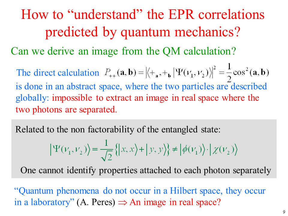 """9 How to """"understand"""" the EPR correlations predicted by quantum mechanics? The direct calculation Can we derive an image from the QM calculation? is d"""