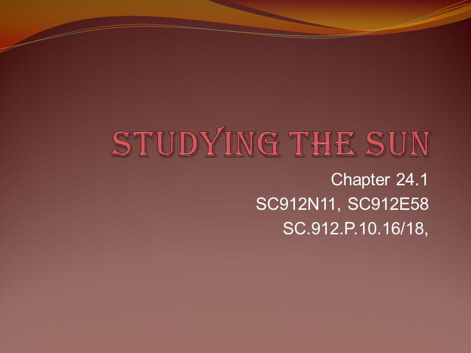 Chapter 24.1 SC912N11, SC912E58 SC.912.P.10.16/18,