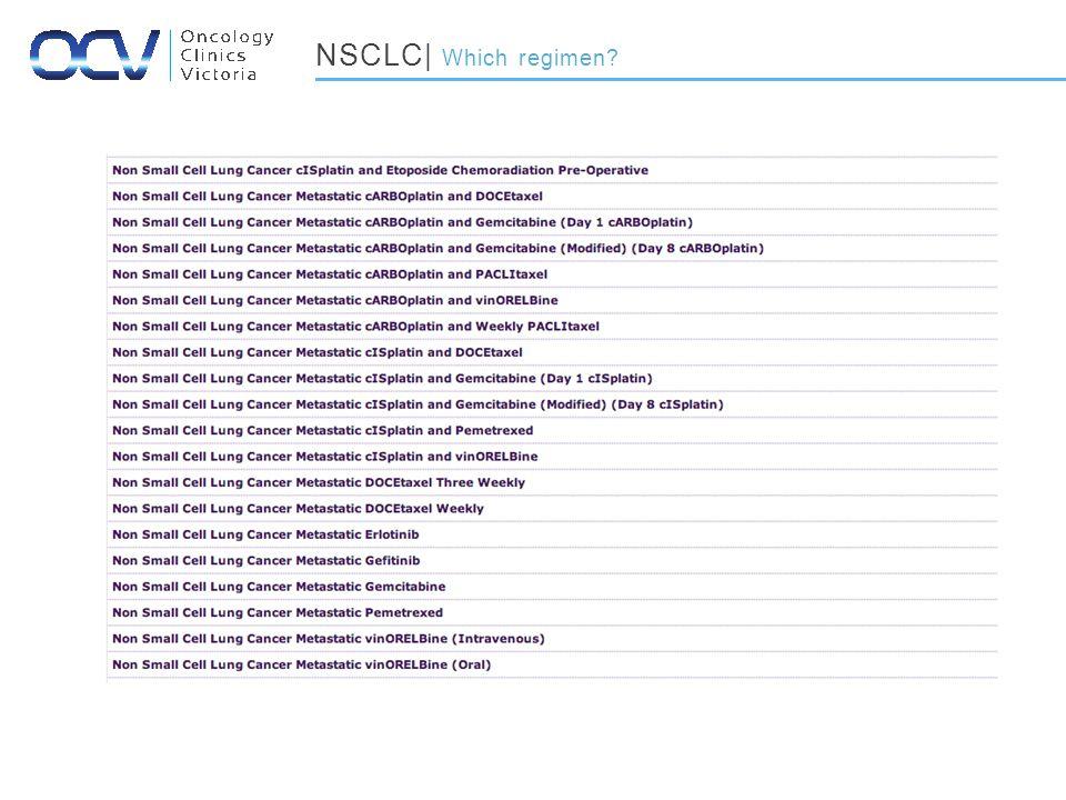 NSCLC| Which regimen
