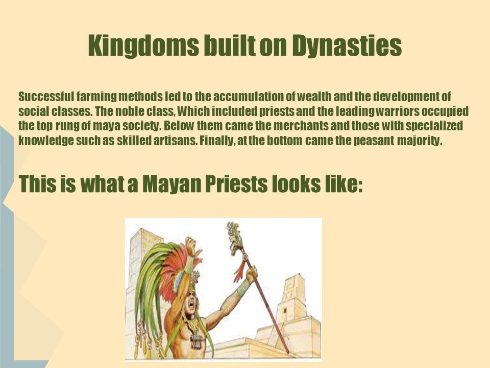Religion Shapes Maya Life Religion influenced most aspects of Maya life.