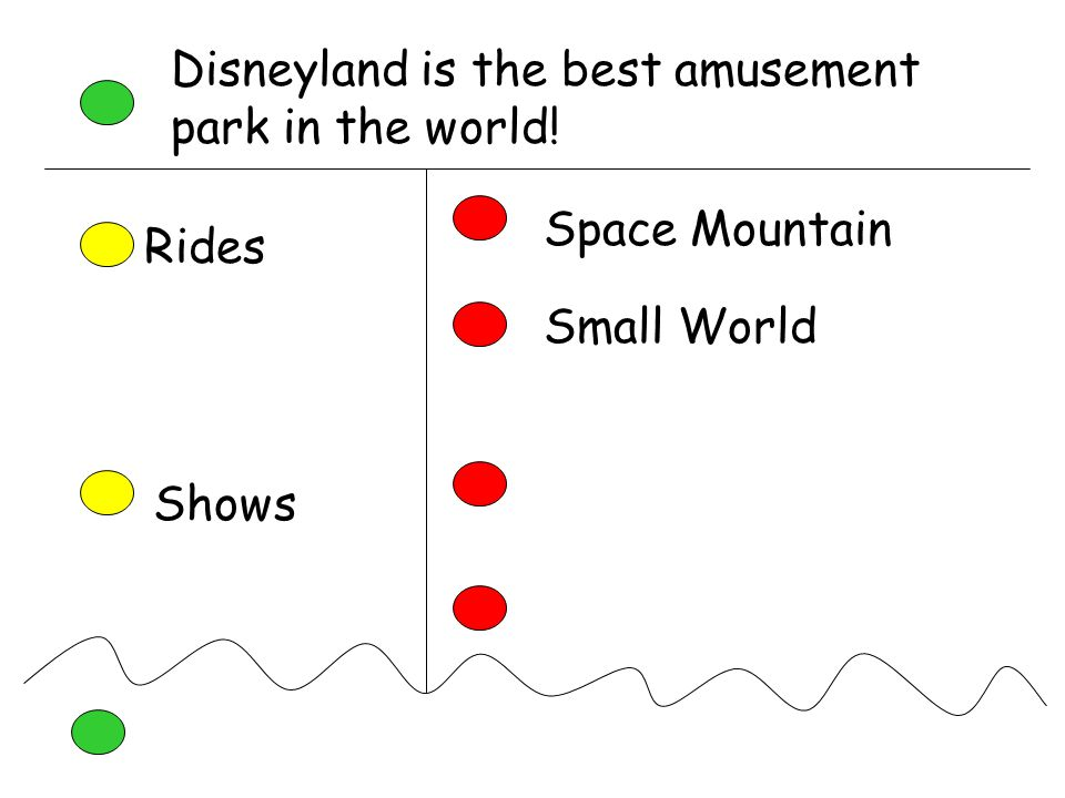 Disneyland is the best amusement park in the world! Rides Space Mountain Small World Shows